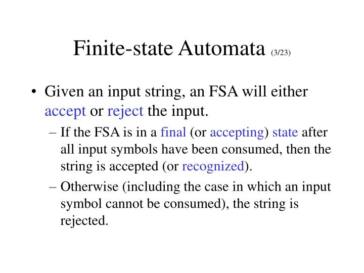 Finite-state Automata