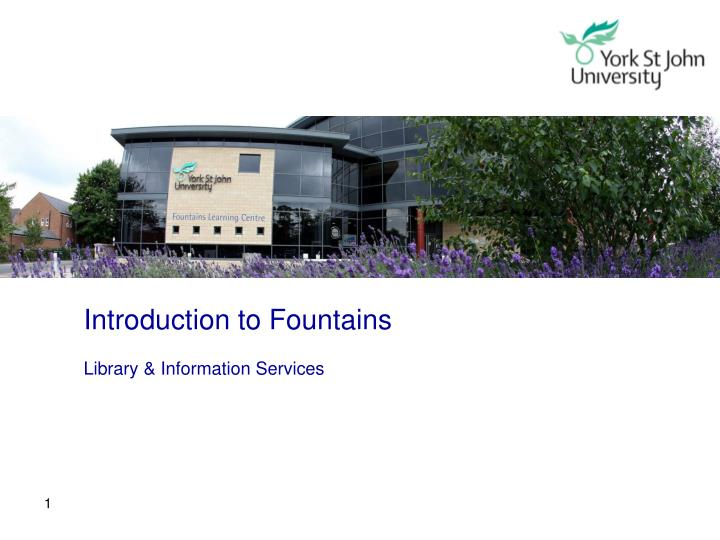 Introduction to Fountains