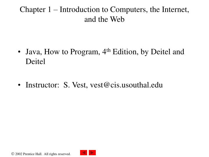 chapter 1 introduction to computers the internet and the web n.
