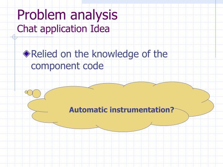 Problem analysis