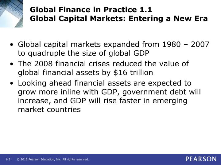 Global Finance in Practice 1.1