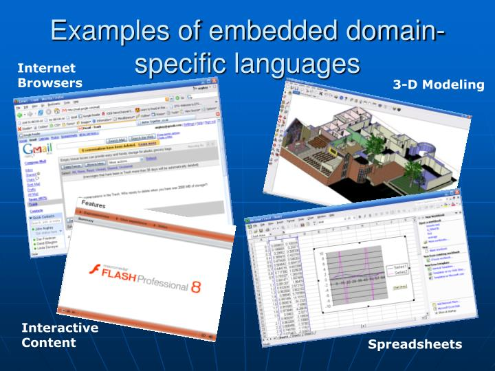 Examples of embedded domain-specific languages