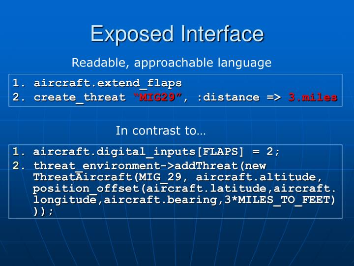Exposed Interface