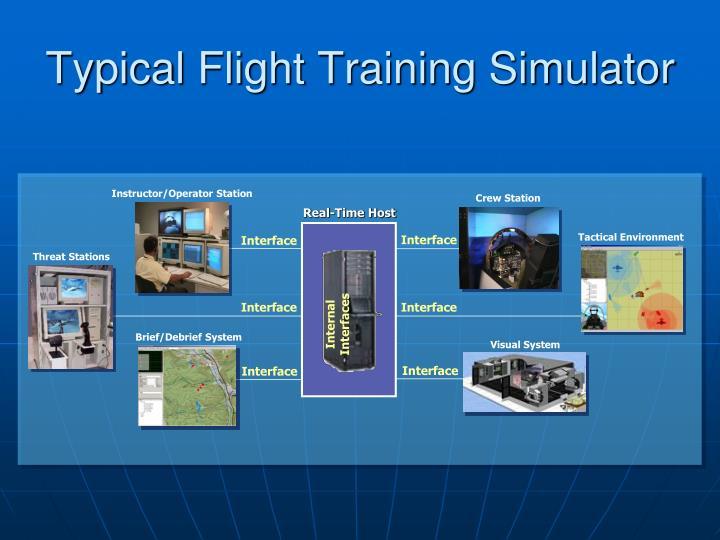 Typical flight training simulator