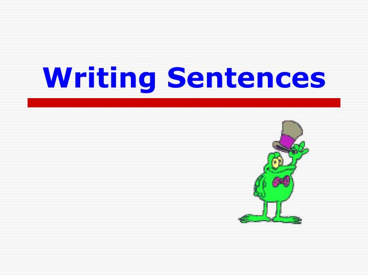 writing sentences n.