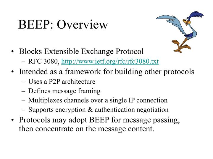 beep overview n.
