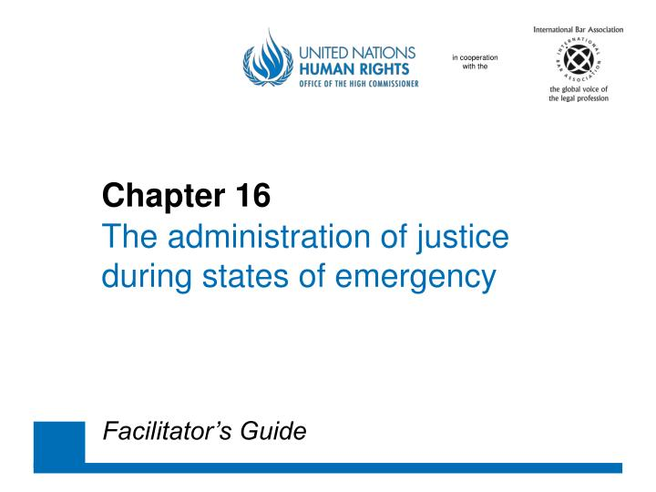 chapter 16 the administration of justice during states of emergency n.