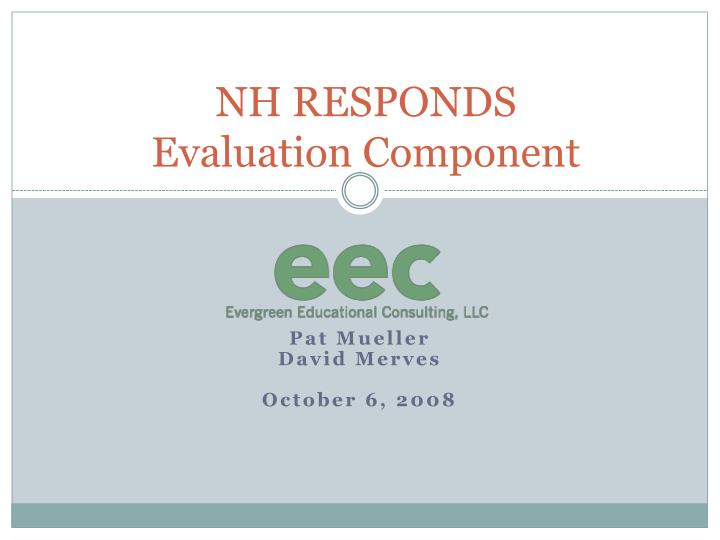 nh responds evaluation component n.