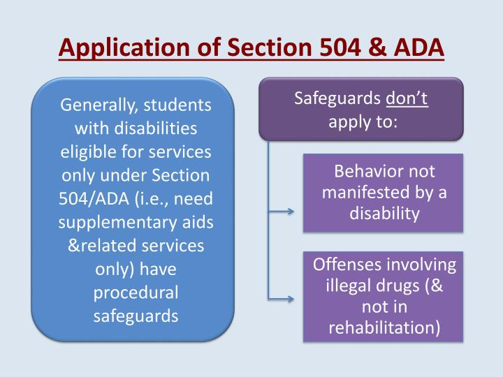 Application of Section 504 &