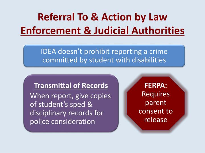 Referral To & Action by Law