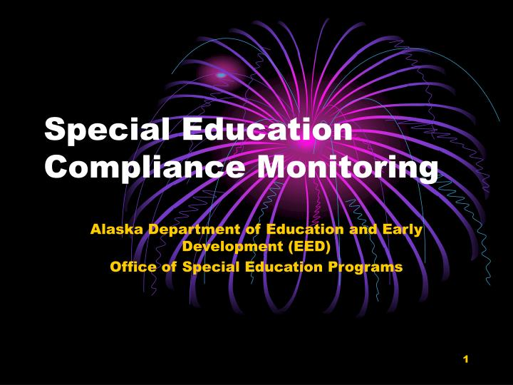 special education compliance monitoring n.