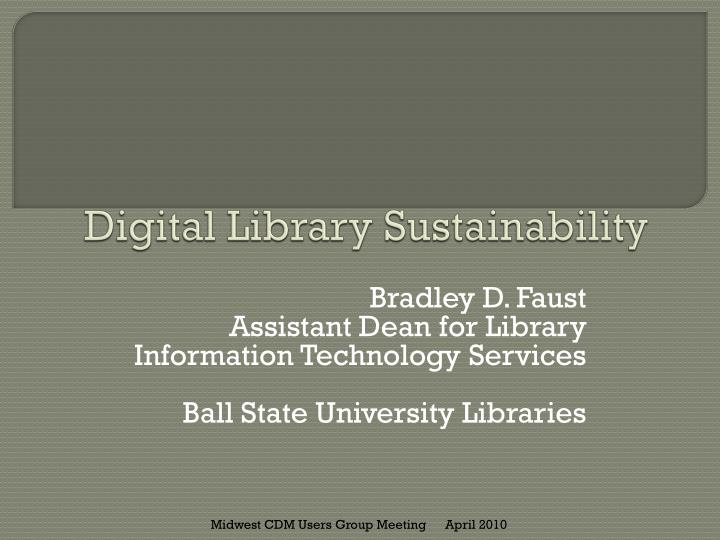 digital library sustainability n.
