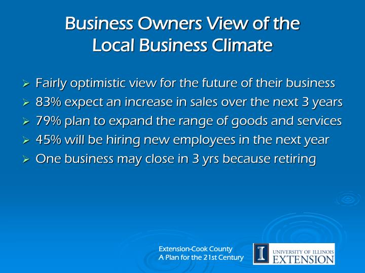 Business Owners View of the