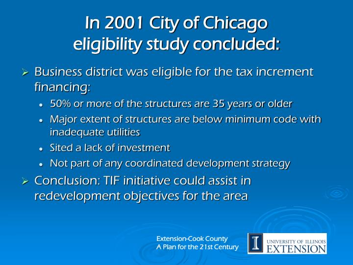 In 2001 City of Chicago