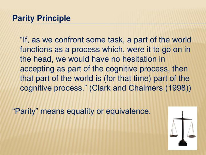 Parity Principle