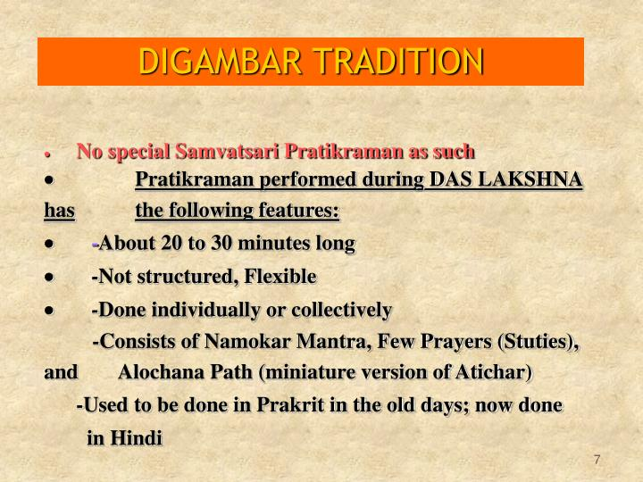 DIGAMBAR TRADITION