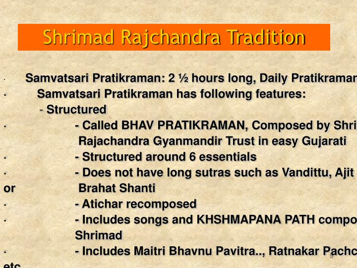 Shrimad Rajchandra Tradition