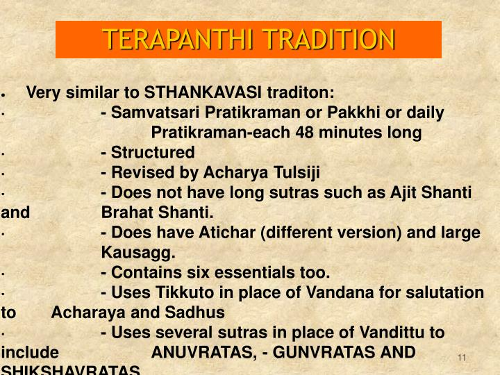 TERAPANTHI TRADITION