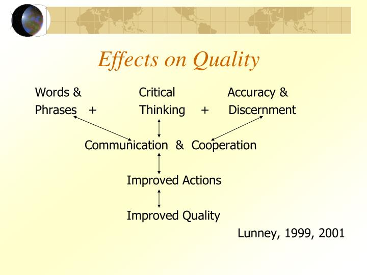 Effects on Quality