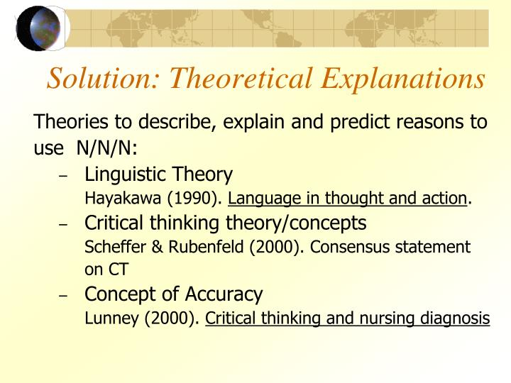 Solution: Theoretical Explanations
