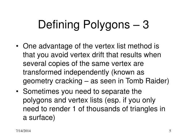 Defining Polygons – 3