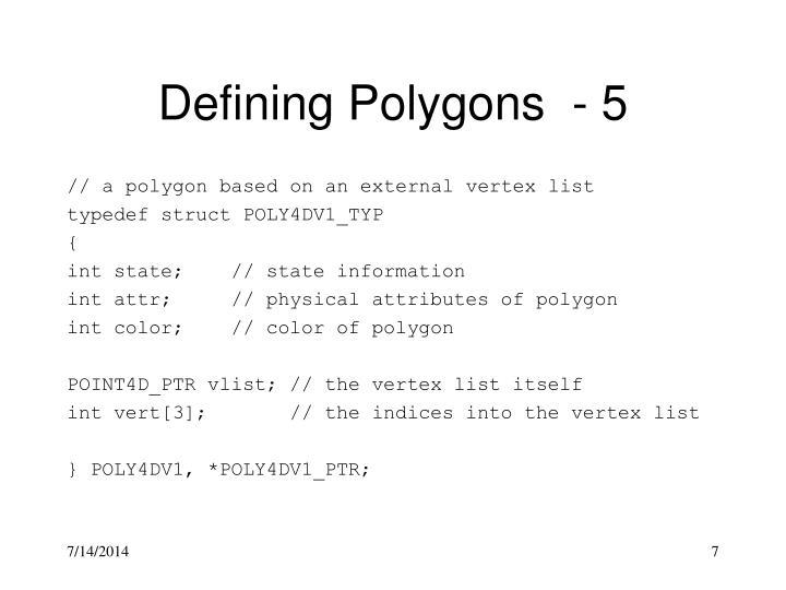 Defining Polygons  - 5