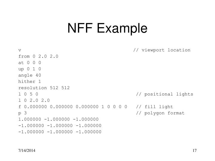 NFF Example