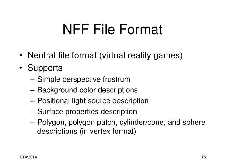 NFF File Format