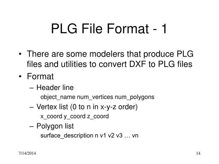 PLG File Format - 1