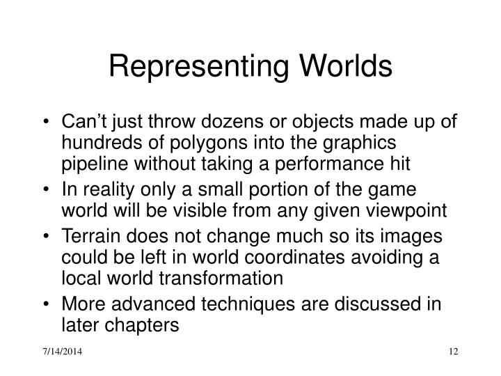Representing Worlds