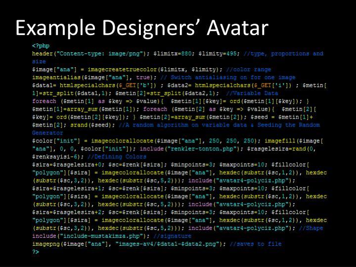 Example Designers' Avatar