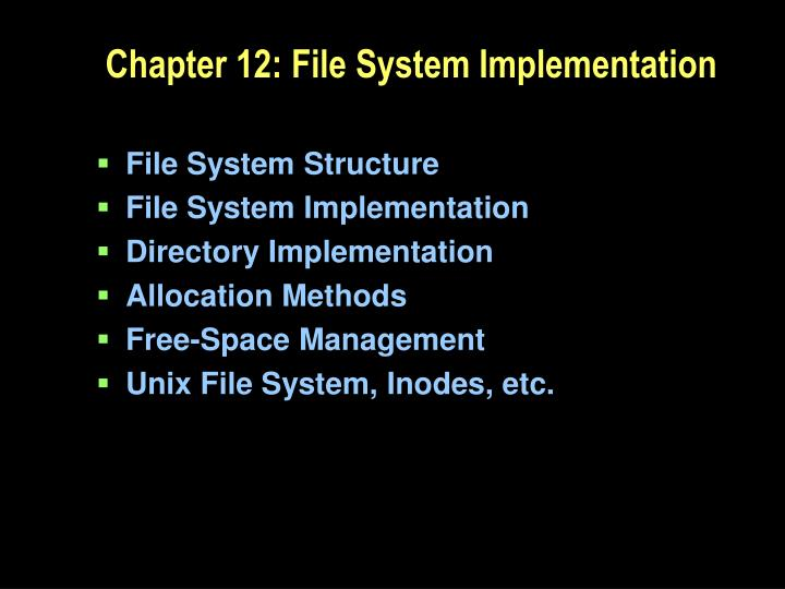 chapter 12 file system implementation n.