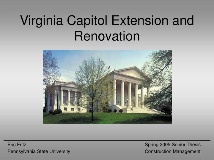 virginia capitol extension and renovation n.