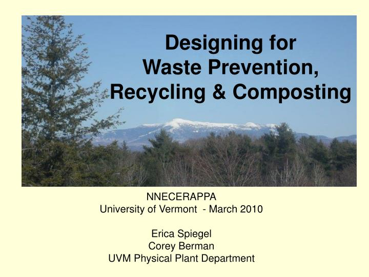 designing for waste prevention recycling composting n.