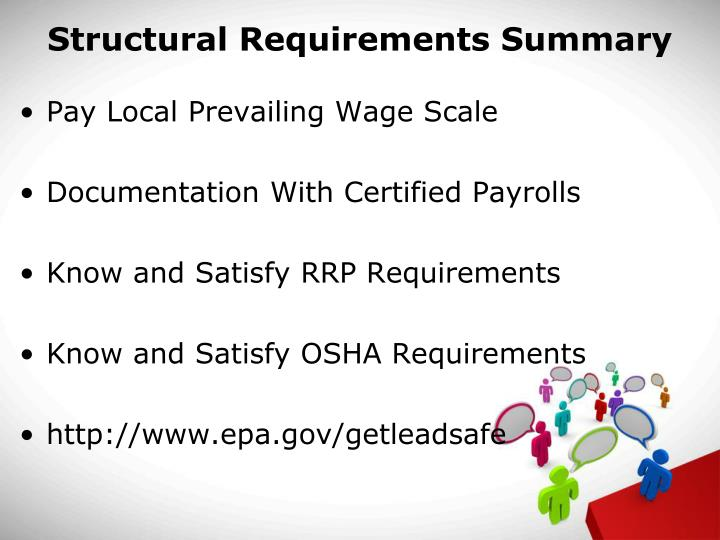 Structural Requirements Summary