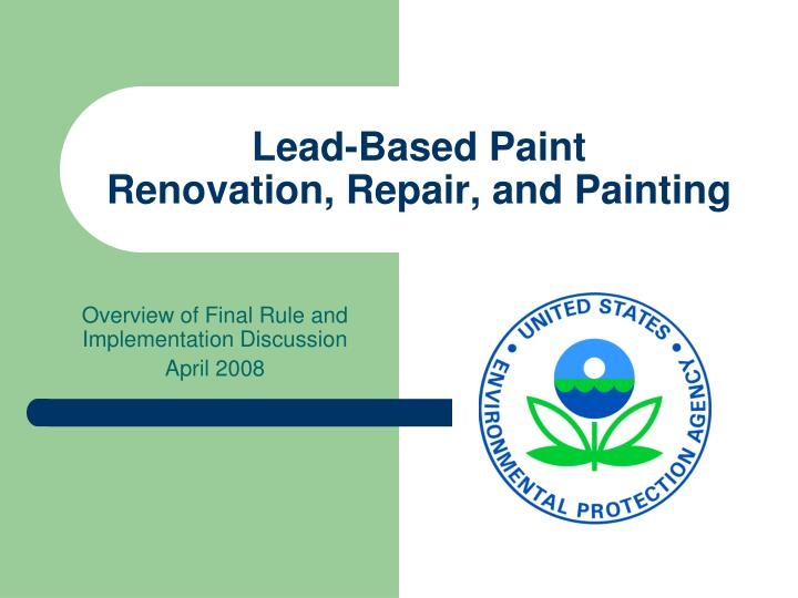 lead based paint renovation repair and painting n.