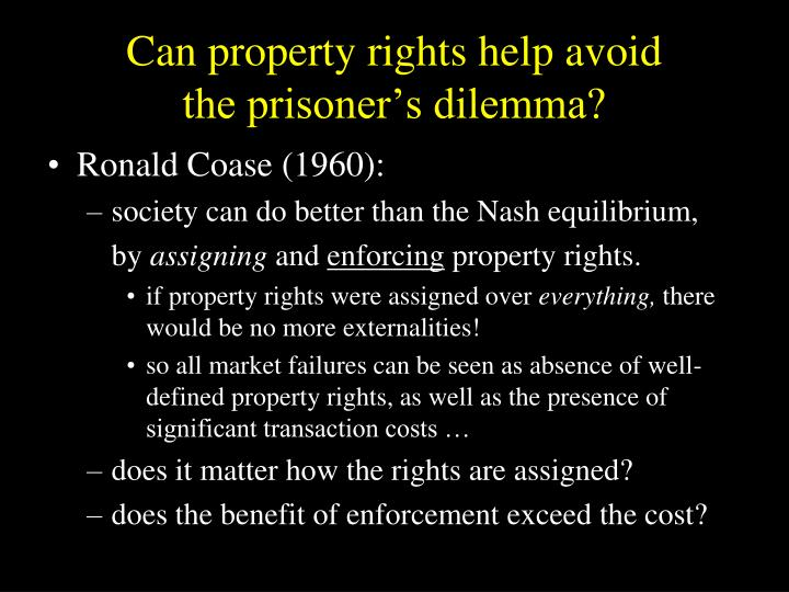 Can property rights help avoid