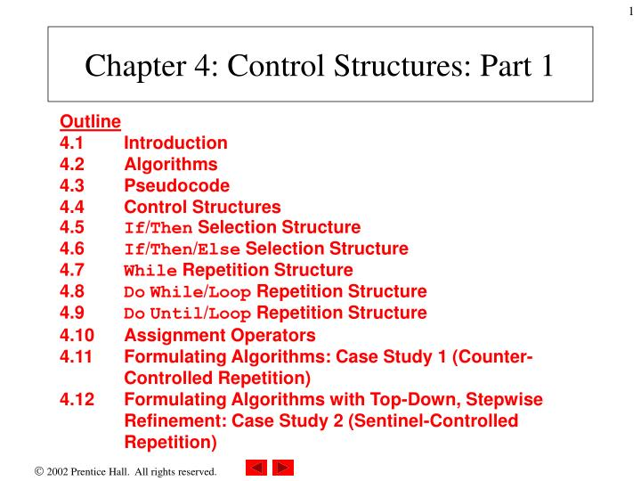 chapter 4 control structures part 1 n.