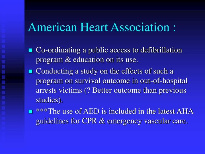 American Heart Association :