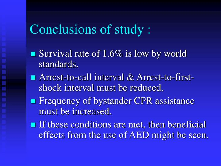 Conclusions of study :