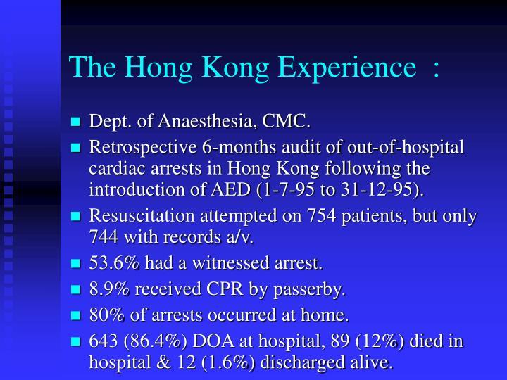 The Hong Kong Experience  :