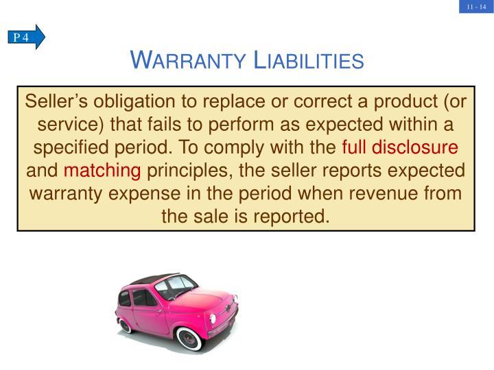 Warranty Liabilities
