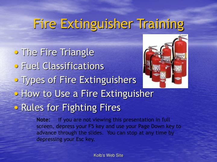PPT - Fire Extinguisher Training PowerPoint Presentation - ID:1760613