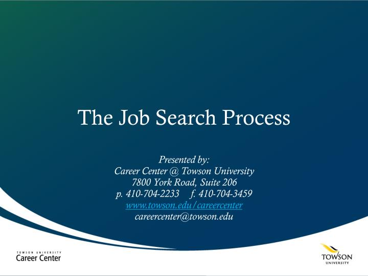 the job search process n.