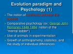 evolution paradigm and psychology 1