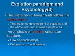 evolution paradigm and psychology 3