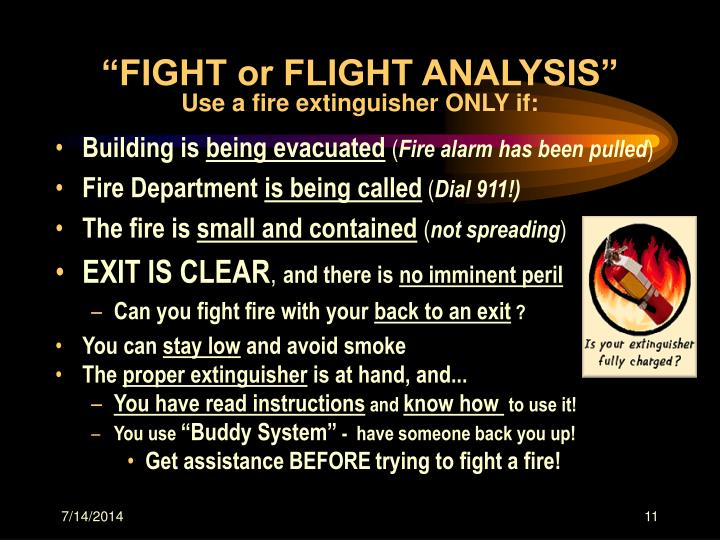 """FIGHT or FLIGHT ANALYSIS"""