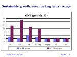 sustainable growth over the long term average