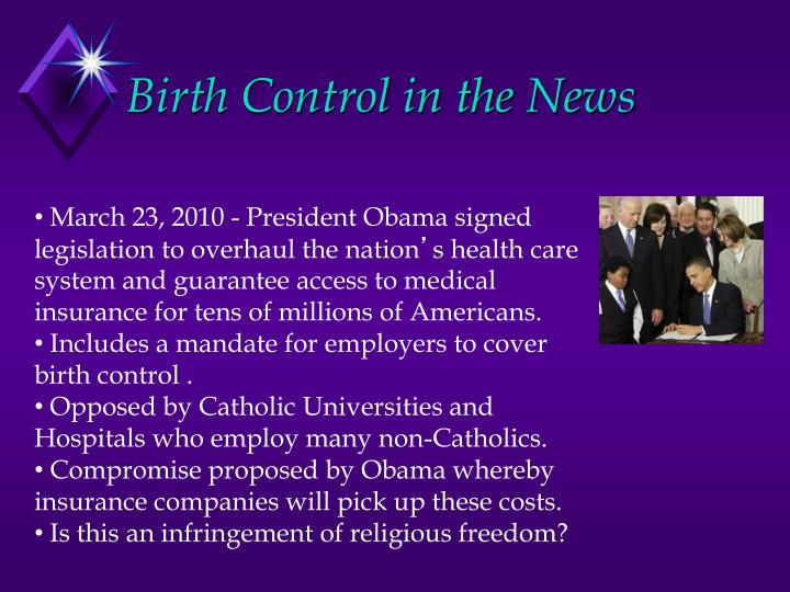 Birth Control in the News