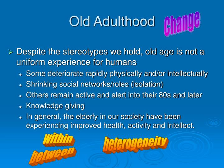 Old Adulthood